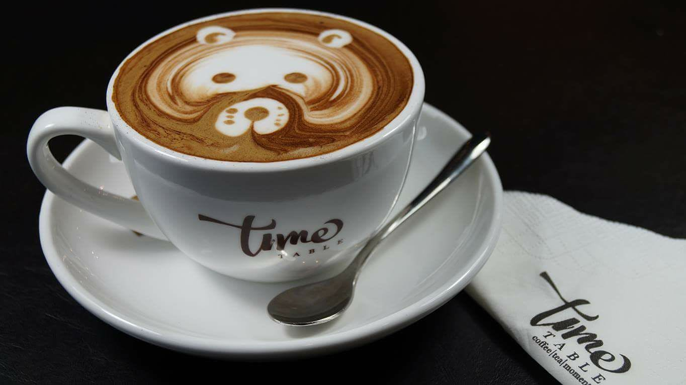 A beautiful cappuccino from Time Table Cafe at Jurong West