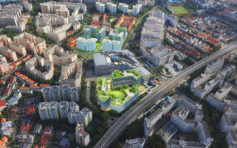An artist's impression of where the Lorong Halus Industrial Park sits