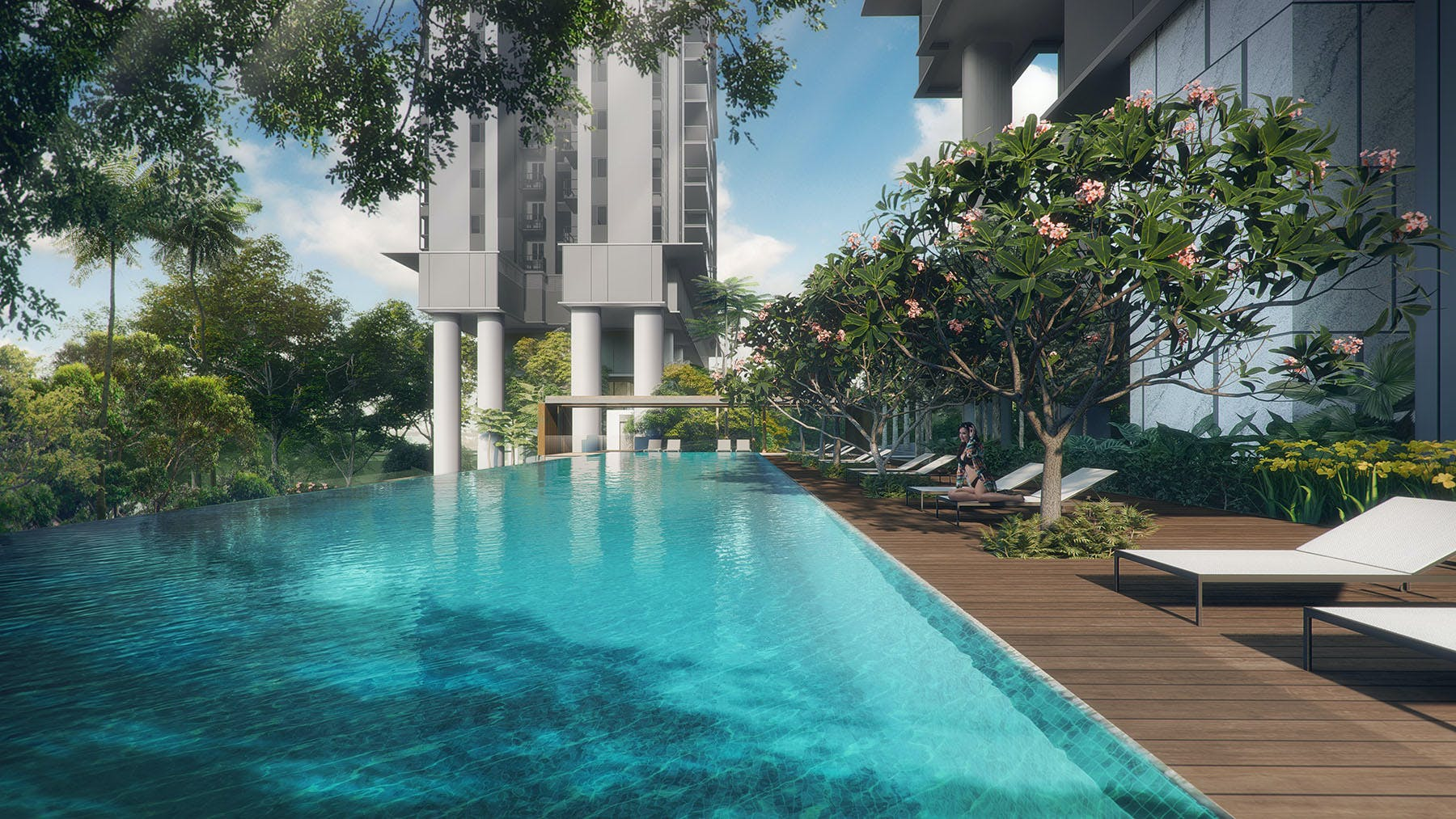 Stirling Residences' sparkling pool