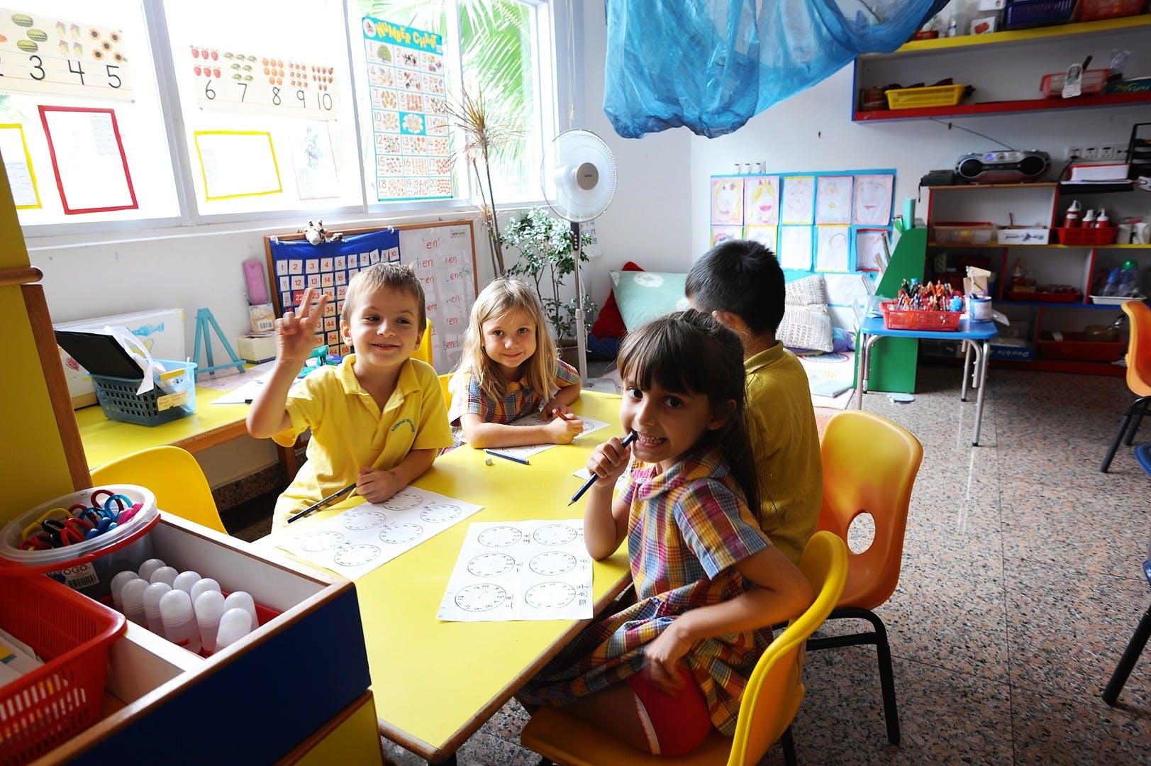 Pupils at Rosemount International School