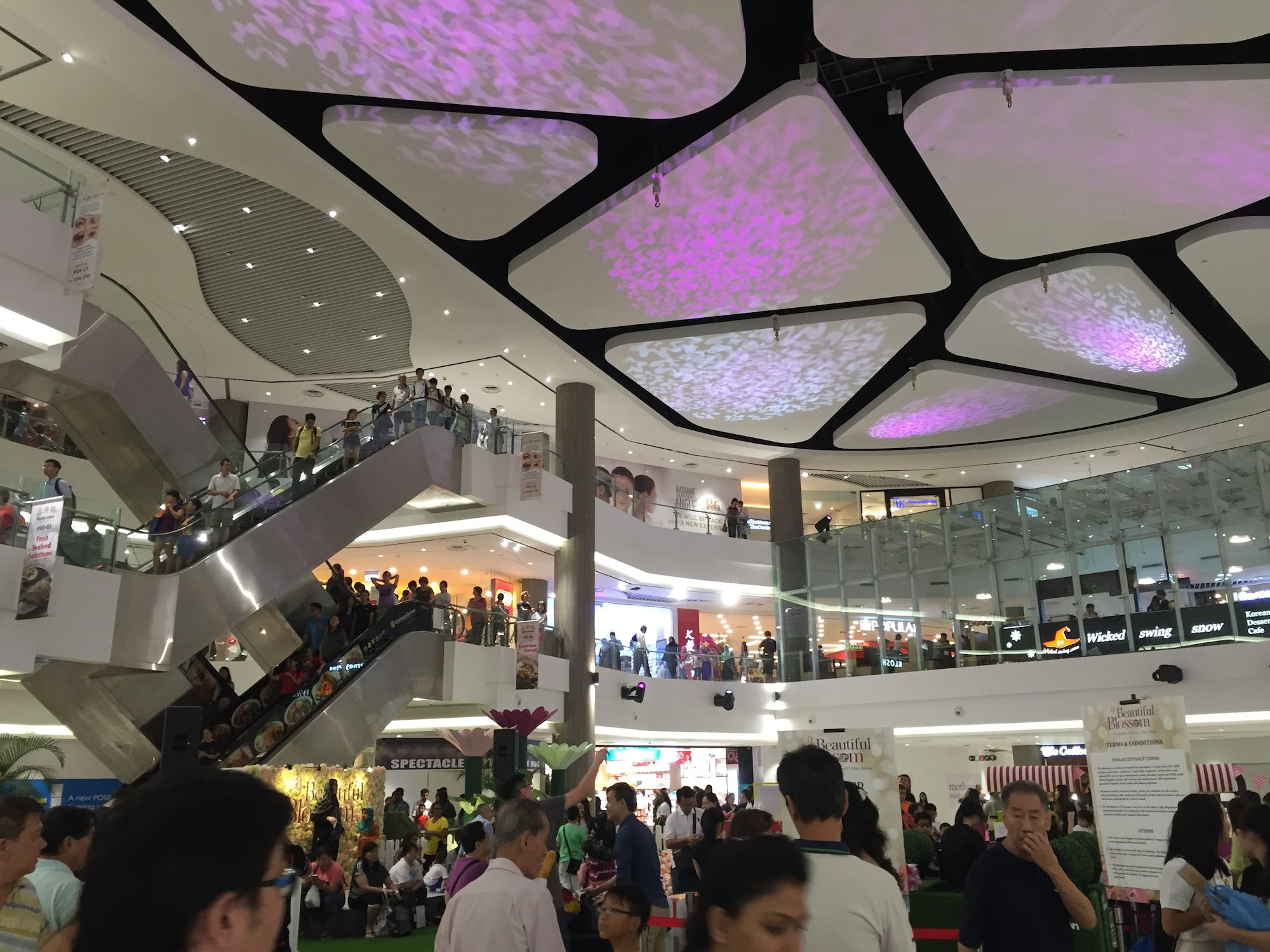 Shoppers at Compass One