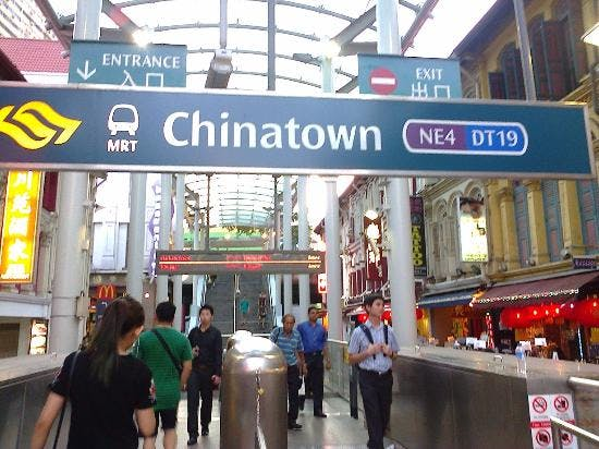 Chinatown MRT station near The Landmark Condo