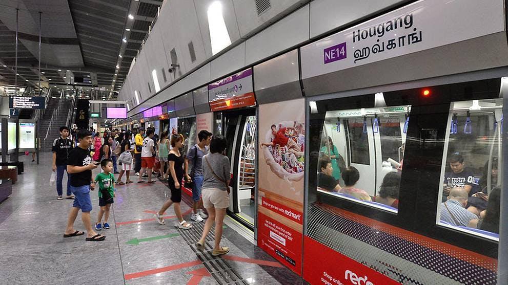 Hougang MRT Station Platform