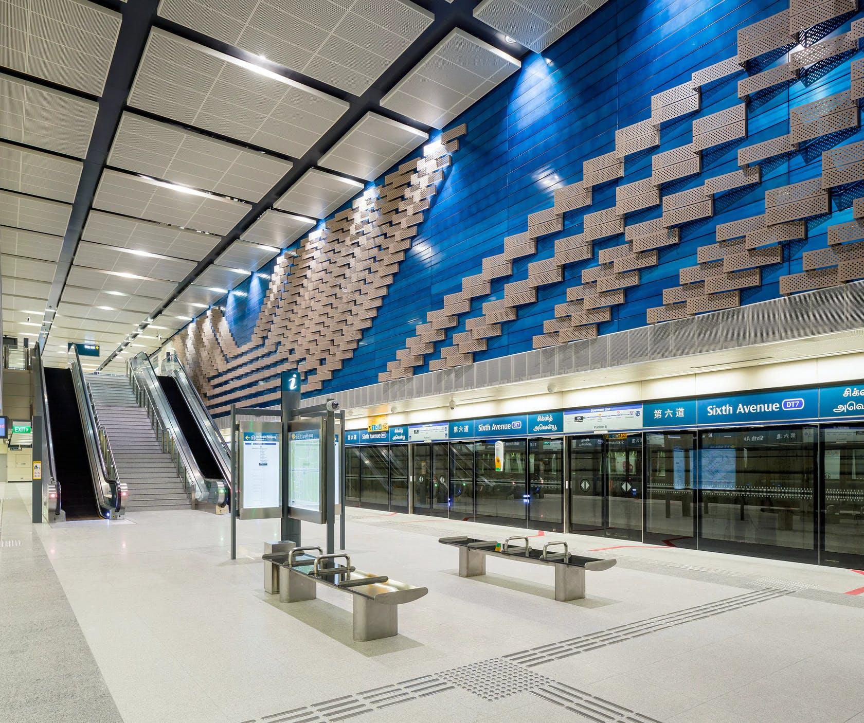 Sixth Avenue MRT Station - runs along the Downtown Line