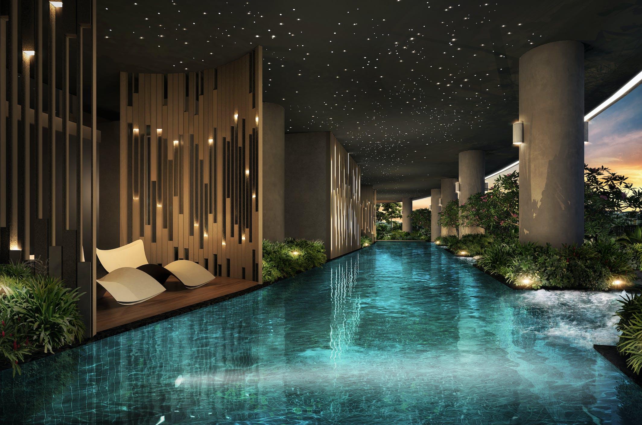 Stunning pool view