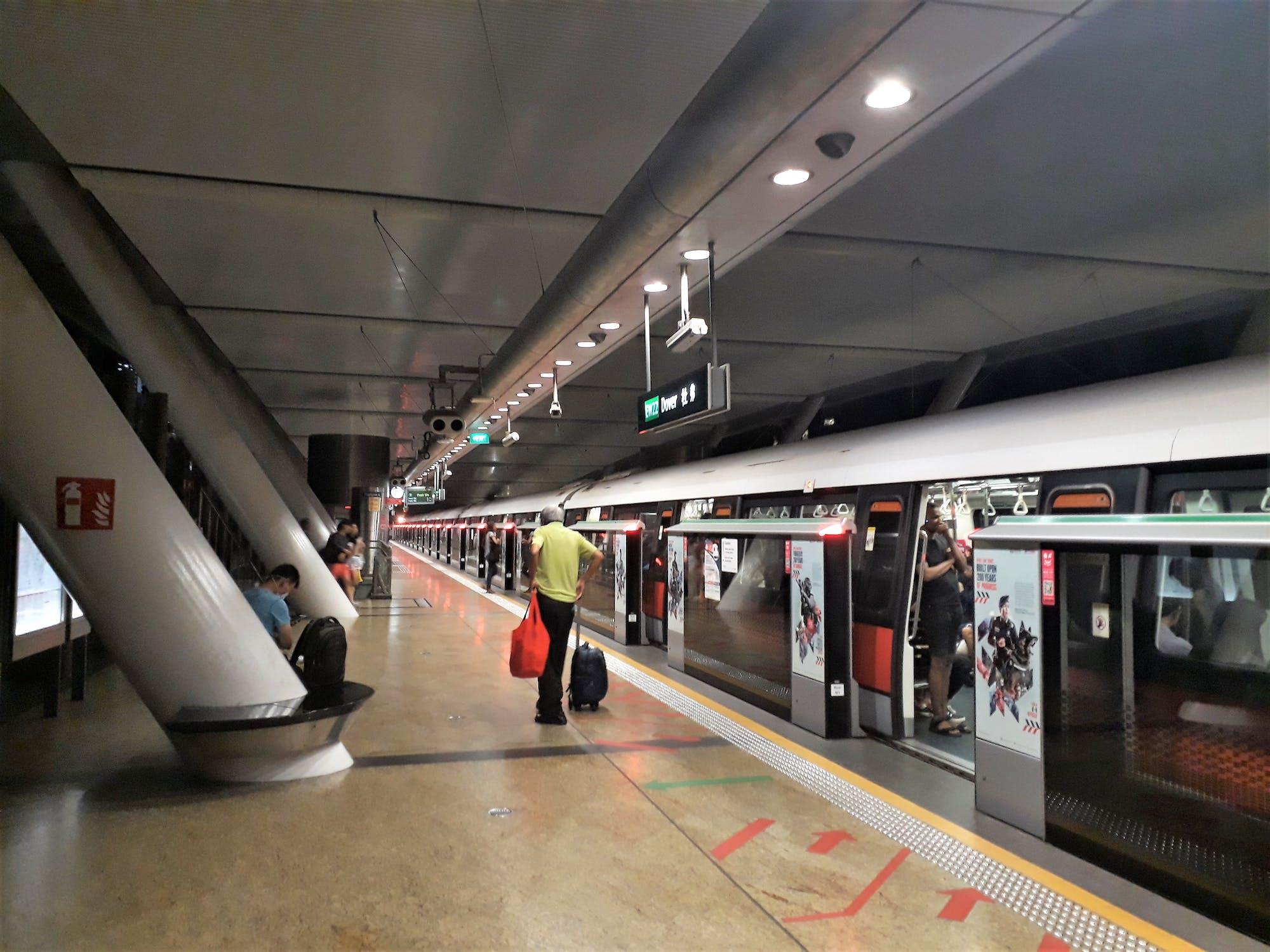 Dover MRT Station platform