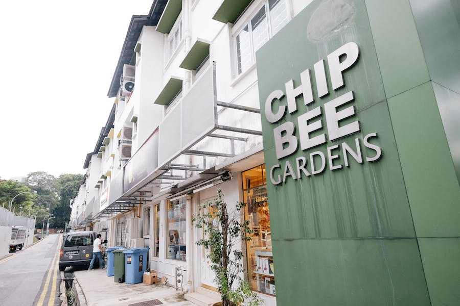 Chip Bee Gardens, a blend of housing estates and shops, located in the Holland Village Neighbourhood