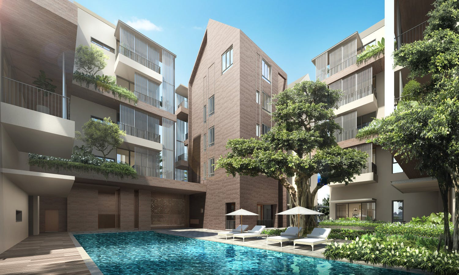 Artist's impression of 10 Evelyn condo pool