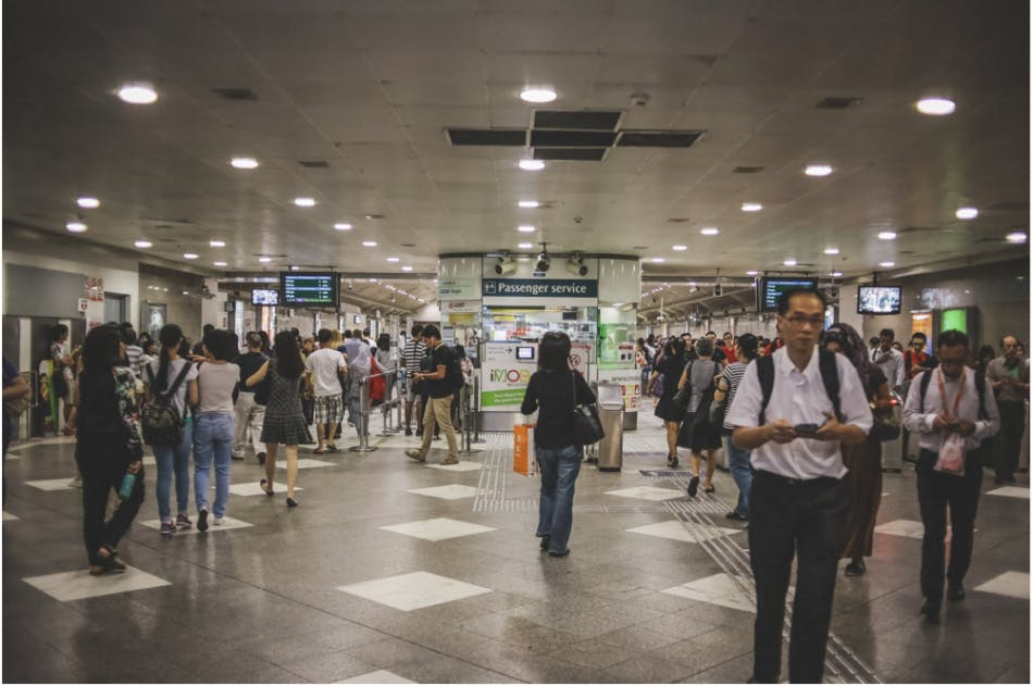 Bugis MRT, a bustling interchange where commuters frequently visit either as a final destination or an intermediary one to switch to-and-from the East-West Line and the Downtown Line