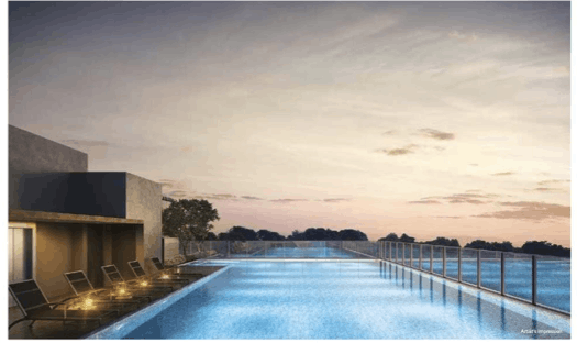 Infinity pool of Bukit 828