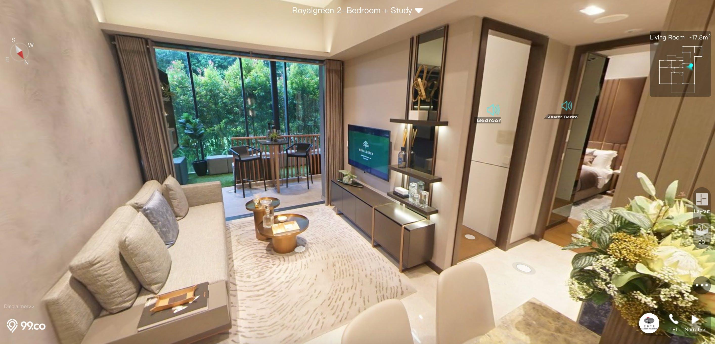 Royal Green 2 Bedroom + Study