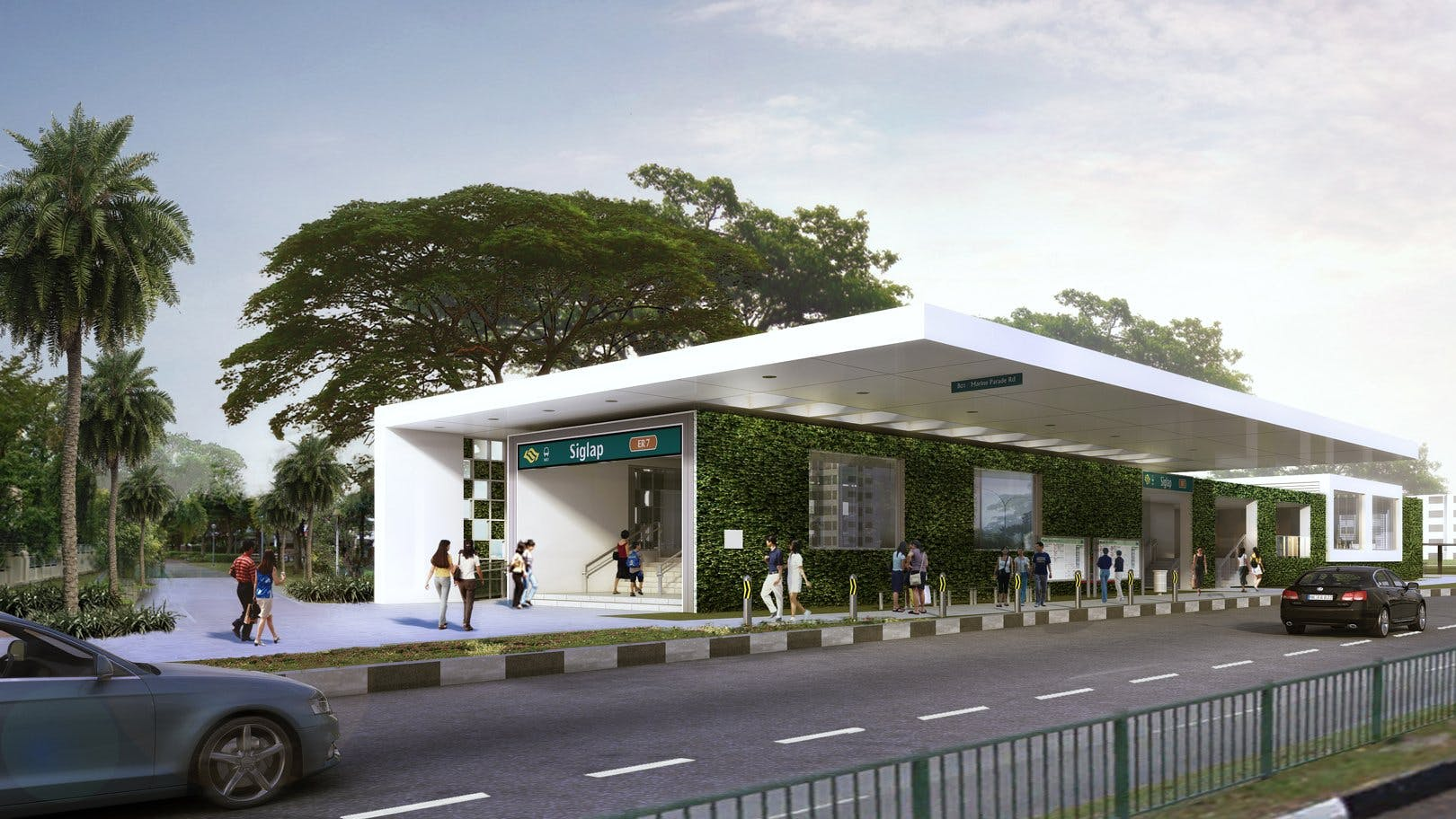Upcoming SIglap MRT Station