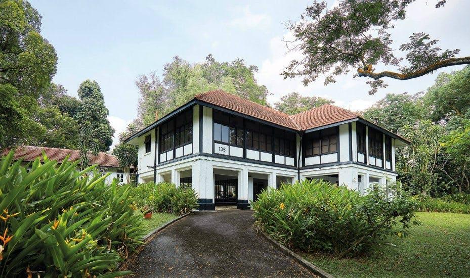 Seletar black and white bungalows