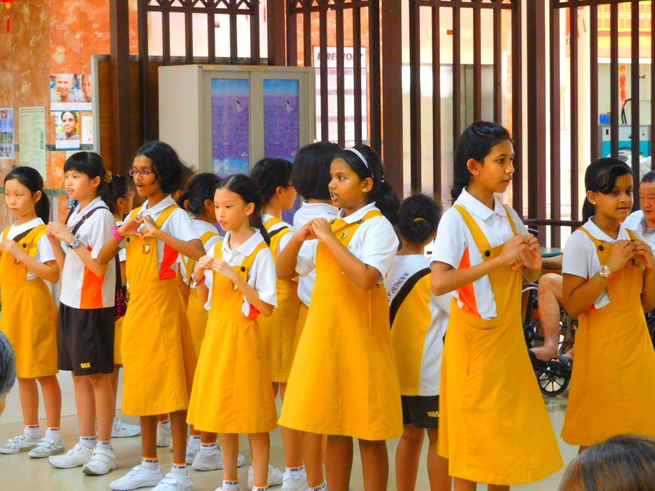 Students at Haig GIrl's School