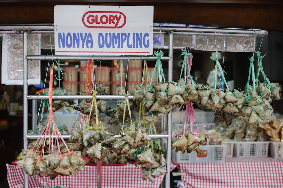 Nonya Dumplings are part of Singapore's rich food culture.