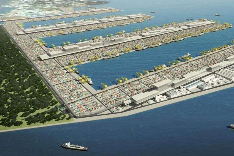 Tuas mega part with area for leisure and recreation