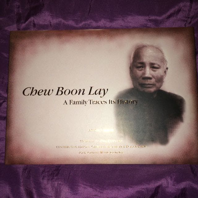 Chew Boon Lay remembered in a book on someone's Carousell listing.
