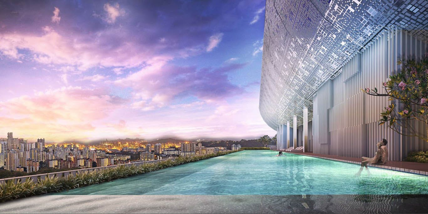There's nothing quite like dipping your toes into a sky pool that spills over into the horizon at Alex Residences.