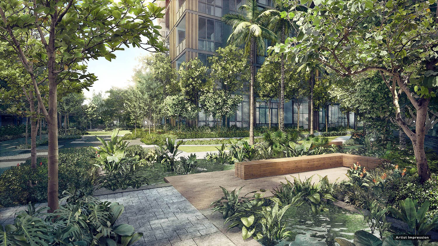 Be surrounded by lush at Martin Modern, with green scenery even in the heart of the city.