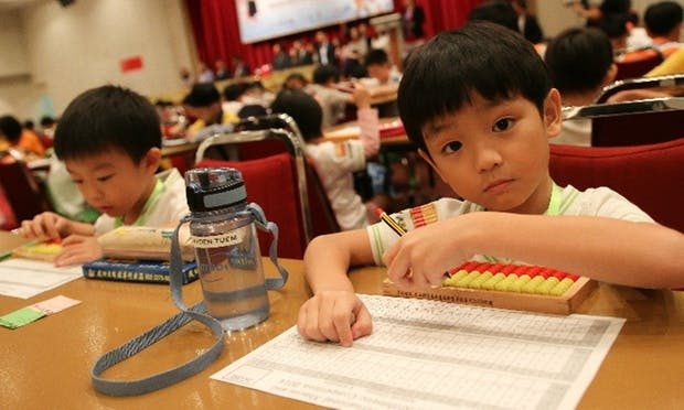 Abacus lessons at Apple Plus School