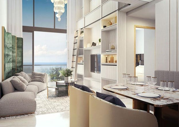 An artist's impression of the luxurious interior of a Dunman Residences unit, which overlook a rare unblocked landed view.