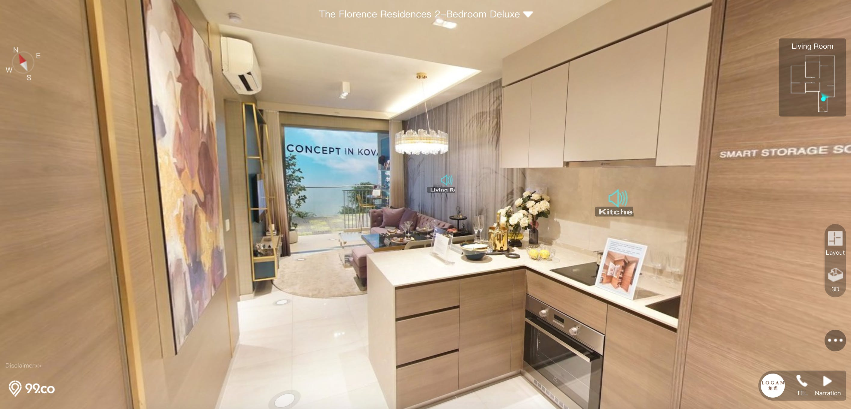 The Florence Residences 2 Bedroom Premium