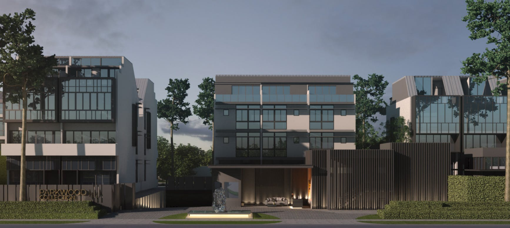 Artists's impression of Parkwood Collection in the evening.
