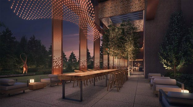 Enjoy a meal under the stars with one of many communual facilities at Dunman Residences.