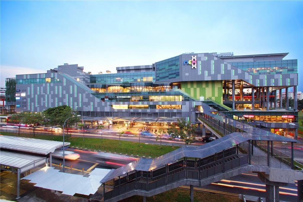 The massive Nex Shopping Centre is a hotspot for many Singaporeans in the area, near Place-8.