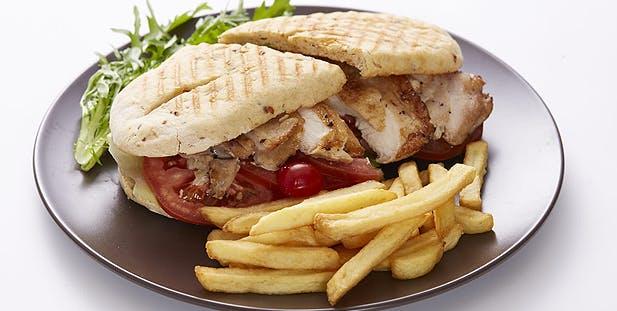 Chicken breast sandwish from Marina Bistro at Raffles Marina