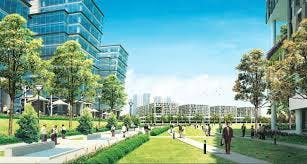 An artist's impression of the vibrant Lorong Halus Industrial Park