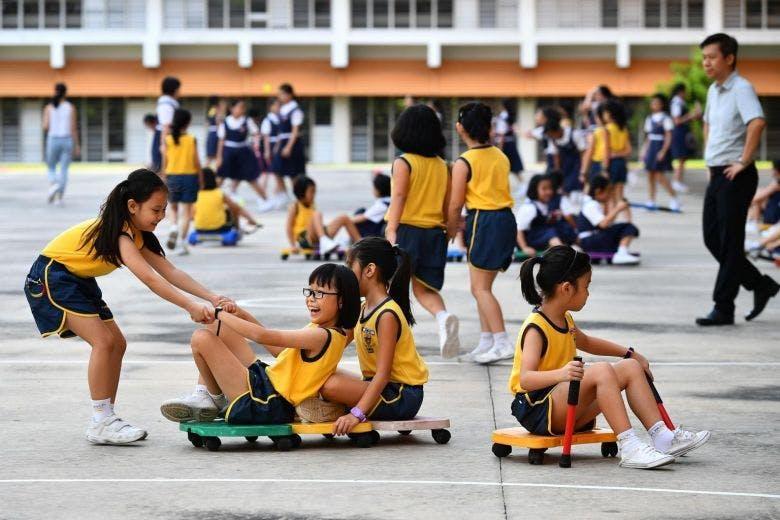 Paya Lebar Methodist Girls' students