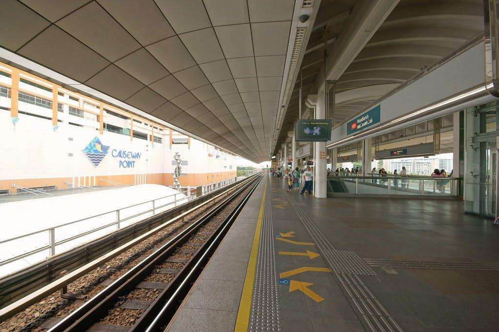 Woodlands MRT Station Platform