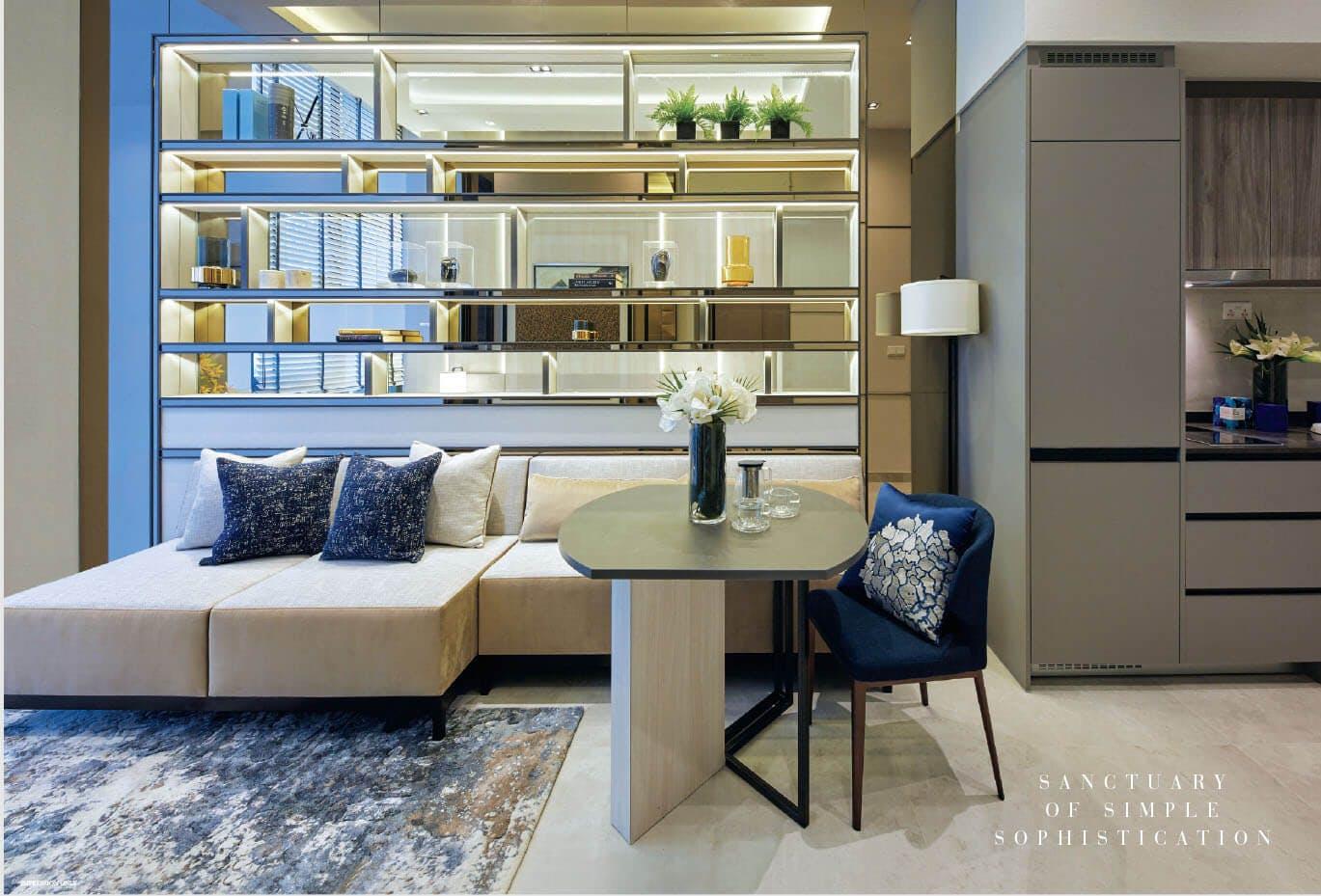 Sixteen 35 Residences condo living room