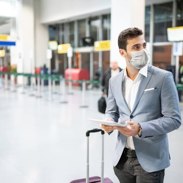 man in a airport