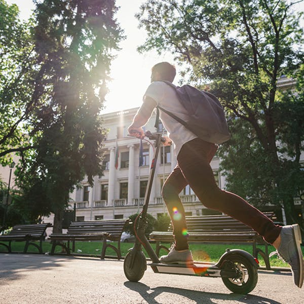 Man electric scooter
