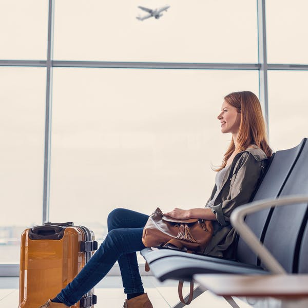woman in a airport