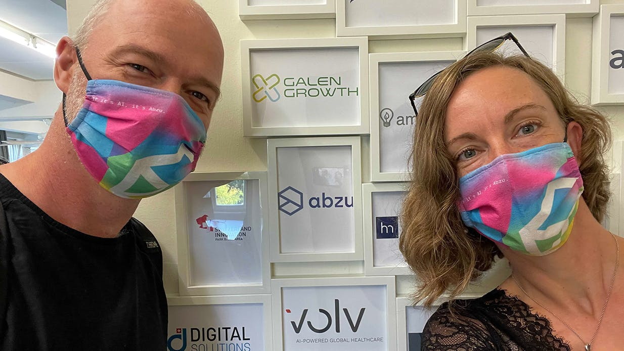 Mikkel and Lykke at the Switzerland Innovation Park Basel Area – Novartis Campus