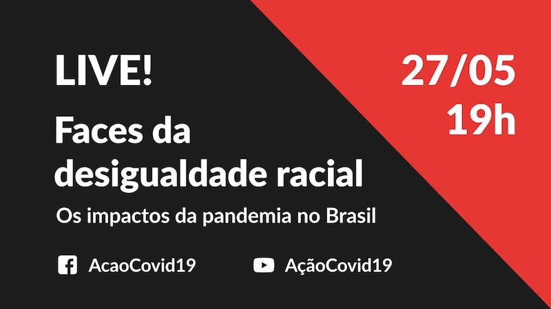 Venha debater as desigualdades raciais e o impacto da pandemia na população negra