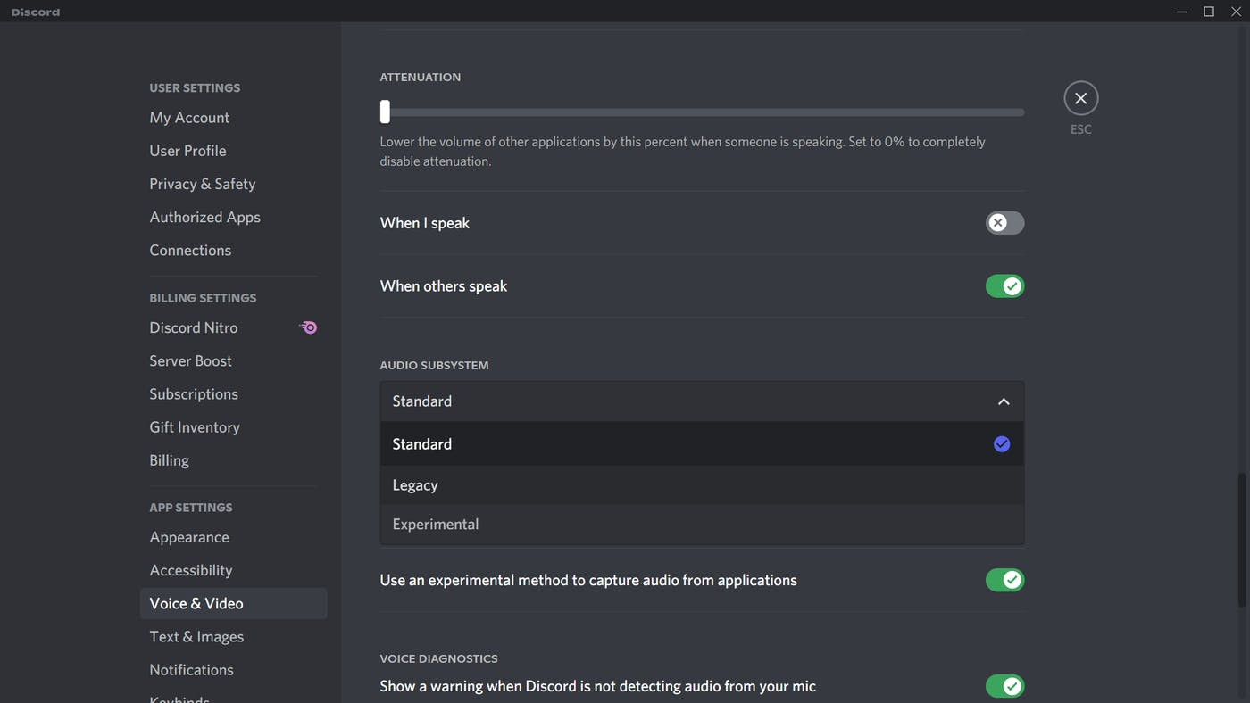 Audio troubleshooting for Discord