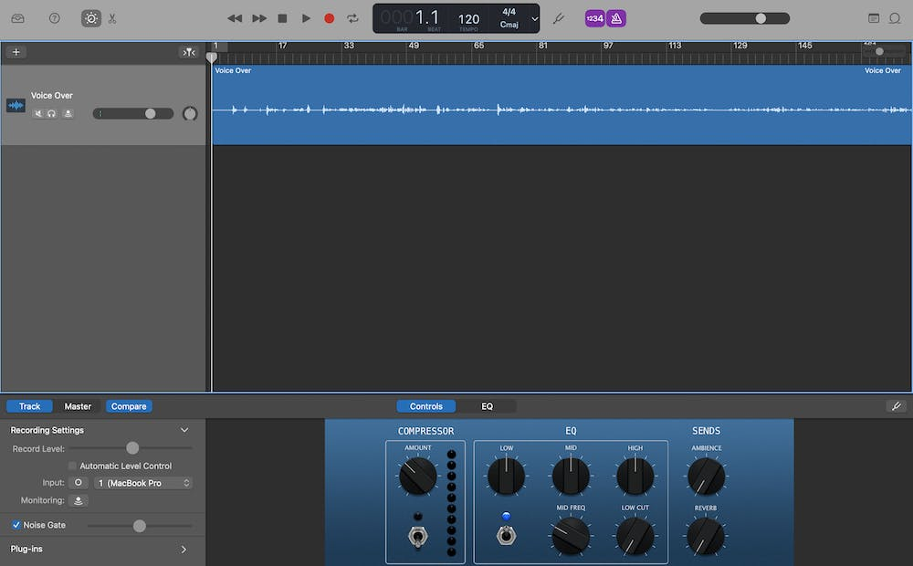 Removing Breath Noise from Narration