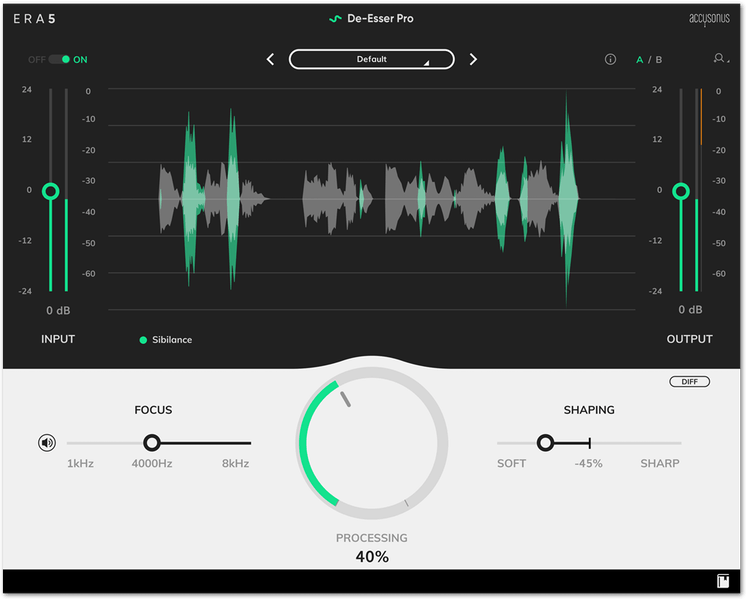 Using a De-Esser to Remove Harshness and Sibilance from Voice and Dialogue Audio
