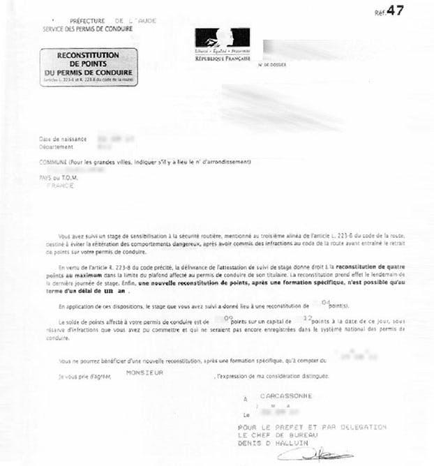 Lettre 48n 48si 48m Et Autres Lettres Concernant Le Permis