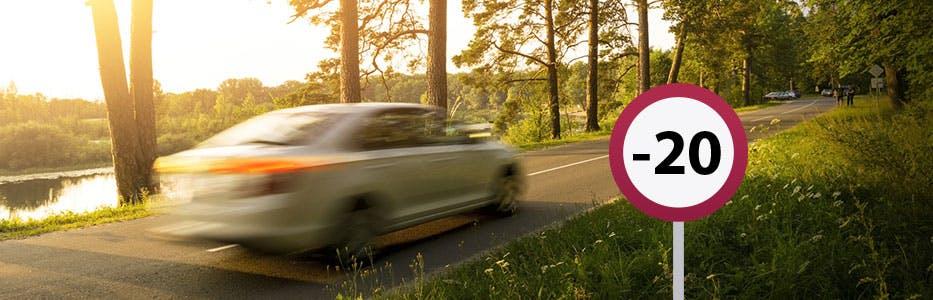 Excès de vitesse inférieur à 20 km/h