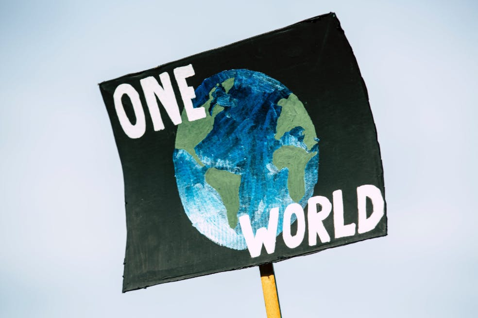 Earth poster one world