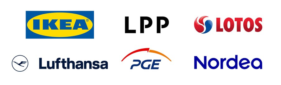 Logos of chosen companies that were taking part in the contest in 2020