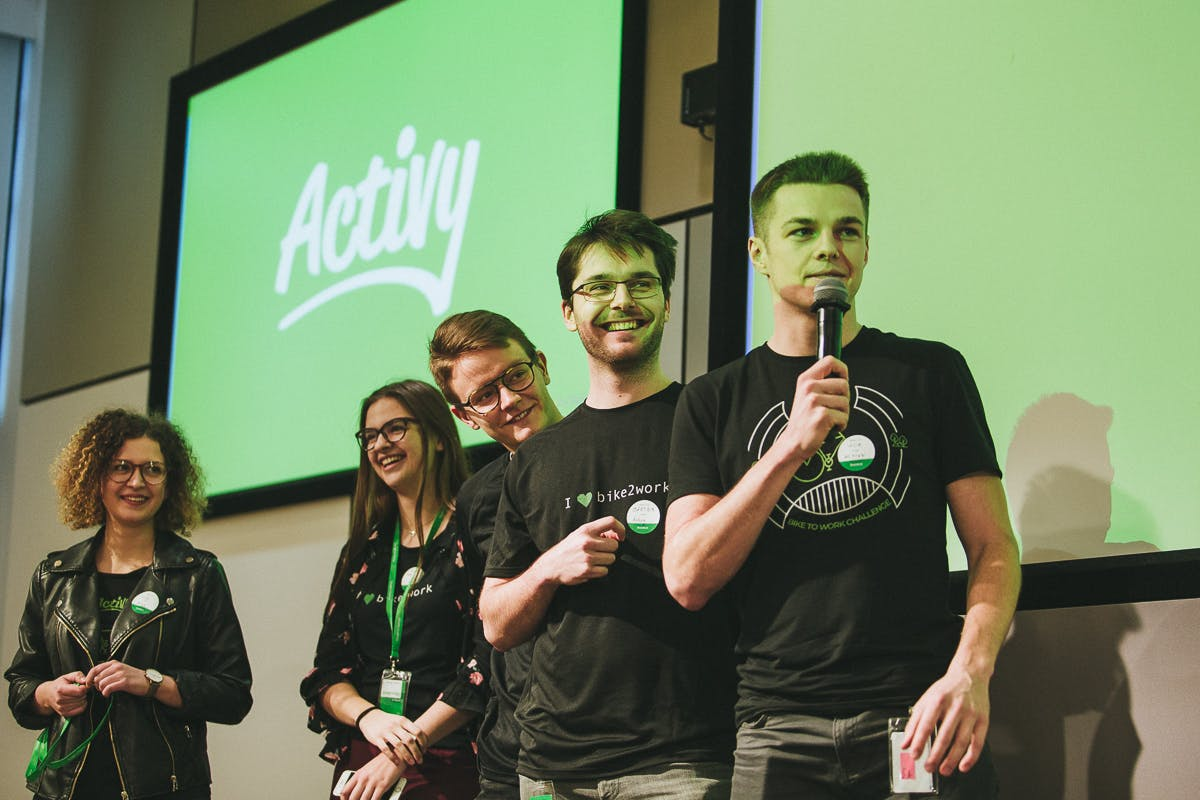 Activy Team on a scene during a conference