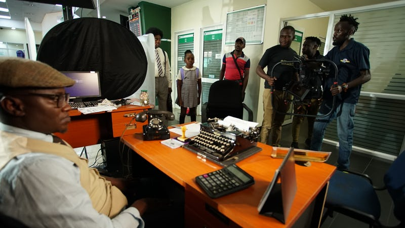 Our resident prophet takes center stage on Bank of Africa commercial shoot