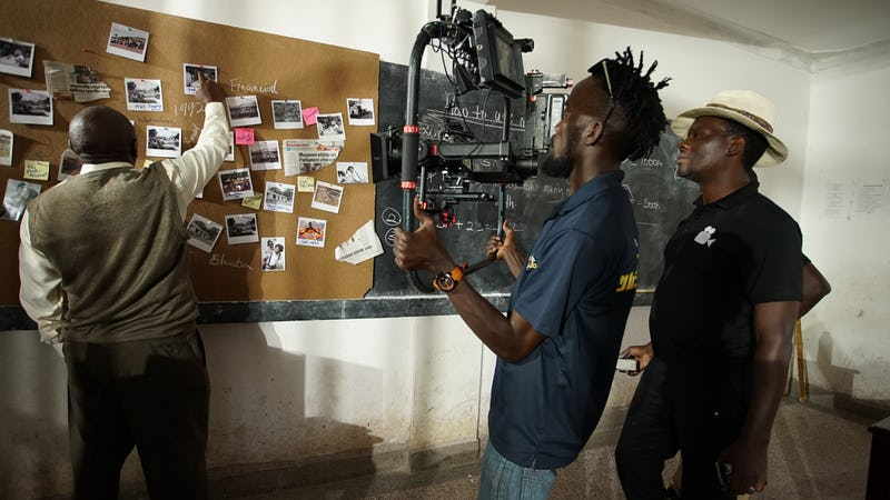 Shooting Bank of Africa's thematic commercial with DOP Isaac.