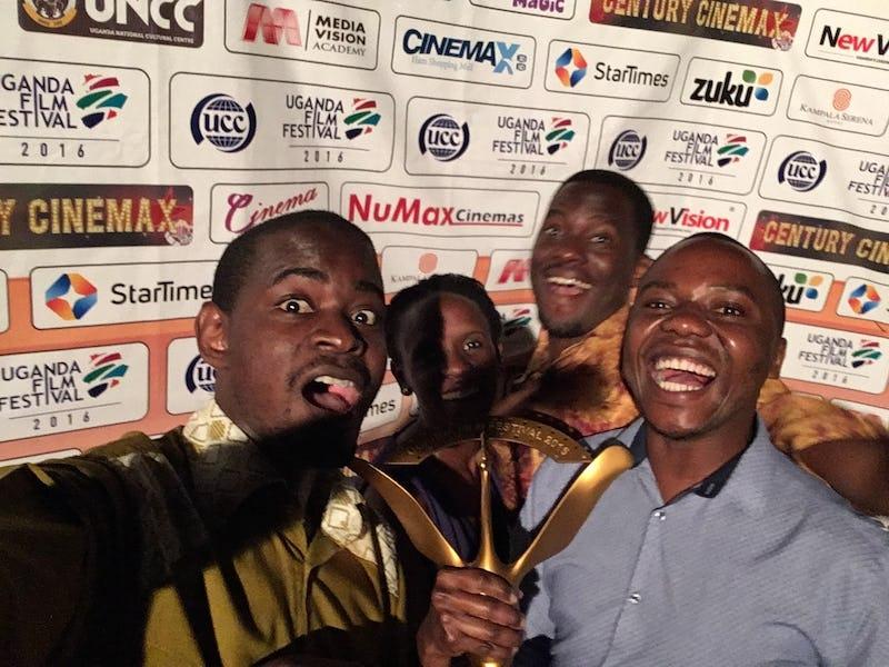 Beam the gold - celebrating the Best Documentary Award at the Uganda film festival 2016